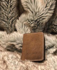 Porte-cartes en cuir clair